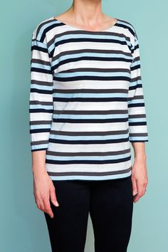 Breton Tee pattern by HotPatterns.com, using a yarn-dyed striped cotton jersey