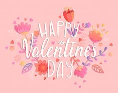 Happy Valentines day card on pink background with floral ornament. Greeting post… Happy Valentines day card on pink background with floral ornament. Happy Valentines Day Card, Be My Valentine, Valentines Illustration, Valentine's Day Poster, Holiday Messages, Heart Day, Christmas Wishes, Birthday Greetings, Invitations