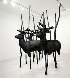 Paulo Grassino #deer #sculpture