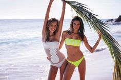 Josephine Skriver and Sara Sampaio star in Victoria's Secret Swim 2016 catalog photoshoot