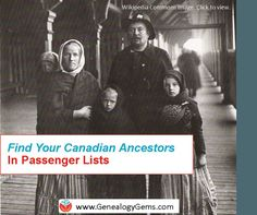 You can search Canadian passenger lists for free at Library Archives Canada, but see where else you can search them, too, in this article.