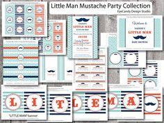 Little man mustache shower