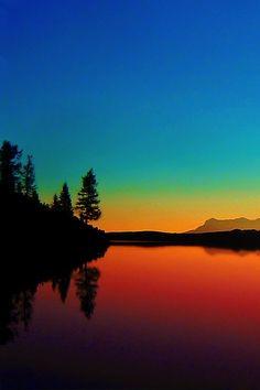 Autumn Sunset in Calaita lake - Trentino, Italy