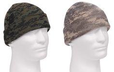 Digital Camo Deluxe Winter Watch Cap - Adult's ACU or Woodland Digi Acrylic Hat