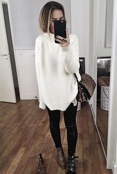simple winter outfits ideas that always looks fantastic page 24 Fall Fashion Outfits, Mode Outfits, Sweater Fashion, Look Fashion, Trendy Outfits, Autumn Fashion, Womens Fashion, Fashion Trends, Trendy Fashion