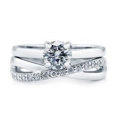 wedding bands that go with a solitaire - Google Search