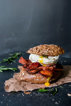 Sweet Potato, Bacon and Poached Egg Sandwich ° eat in my kitchen