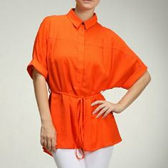 Moon collection bright orange top Versatile top. Can be work for work, shopping, night out or parting with friends. Available in small, medium and large. Moon Collection Tops Blouses