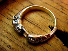 Sterling Silver Ouroboros Ring by FranticJewelry on Etsy, $70.00