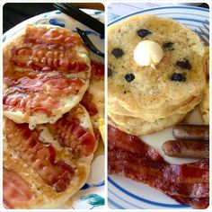 Happy #PancakeDay! Jake's Bacon Pancakes from #AdventureTime & Blueberry Pancakes for #ScyFy Channel's #Haven.