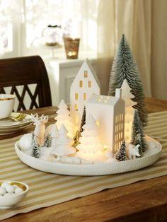 In Gold und Weiß lassen wir unsere Weihnachtliche Deko erstrahlen. LED-Leuchten sorgen für entspanntes und ungefährliches Licht.
