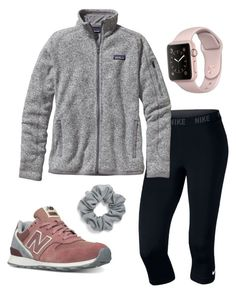 """""""Sporty/preppy"""" by gottacreate on Polyvore featuring New Balance, NIKE, Patagonia and Natasha Couture"""