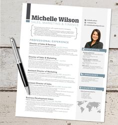 The Michelle Resume Design Graphic Design by VivifyCreative