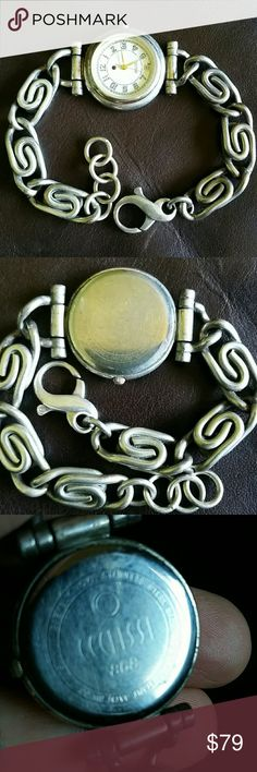 Vintage Eclissi Sterling Silver Ecclissi Watch Beautiful 925 silver swirl detail on bracelet band. Big clasp. Gorgeous details. Face is scratched. Needs a good polish and new battery. Ecclissi Jewelry
