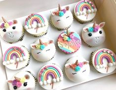 The Unicorn trend is still going strong 🦄- These were a gift for my sweet little neighbour Sophia for her Birthday Party today… Unicorn Themed Birthday, Unicorn Party, Birthday Cake, Topping Cake, Mini Cakes, Cupcake Cakes, Paw Patrol Torte, Unicorn Foods, Cheap Clean Eating