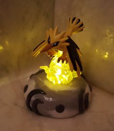 Light up Zapdos Figurine by KirseysKrafts on Etsy