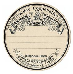 Fab Round French Apothecary Label! - The Graphics Fairy Makeover vitamin bottles