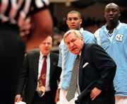 Dean Smith won 879 games, 2 national titles.  Great Article, this one too http://www.nytimes.com/2015/02/09/sports/ncaabasketball/dean-smith-longtime-university-of-north-carolina-basketball-coach-dies-at-83.html?ref=sports&target=comments#commentsContainer  Anthony Zak Brecksville Ohio