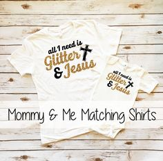 Mommy and Me Matching Sparkle T Shirt Sets are available at www.shopcassidyscloset.com  #glitter #mommyandme #sparkleshirt