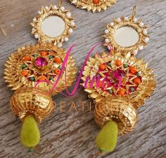 gota jewellery , gold gota jewellery funky mehendi jewellery , mehendi giveaways , mehendi favors