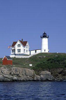 灯台, 塔, ビーコン, 建物, 海岸, 空, 海, アーキテクチャ
