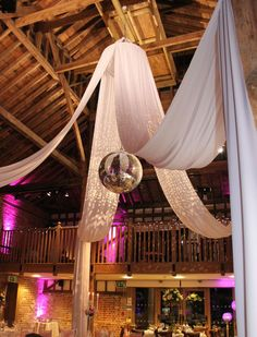disco ball ceiling drape