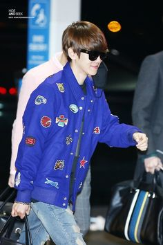 Baekhyun <3 - 141028 Incheon Airport, departing for Mexico
