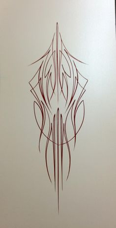 Rob Valentini Valentini Pinstriping Burgundy on pearl white
