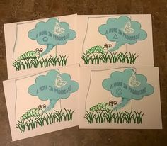 A Work In Progress 12 Step Recovery AA greeting card handcrafted by 12StepUnityGal