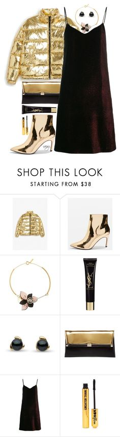 """""""Black and Gold"""" by nans0717 ❤ liked on Polyvore featuring Monki, Topshop, Marni, Yves Saint Laurent, Diane Von Furstenberg, Hilfiger Collection and Nasty Gal"""