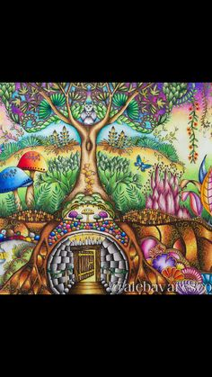 Enchanted forest --> If you're looking for the best coloring books and writing utensils including drawing markers, colored pencils, gel pens and watercolors, please visit http://ColoringToolkit.com. Color... Relax... Chill.