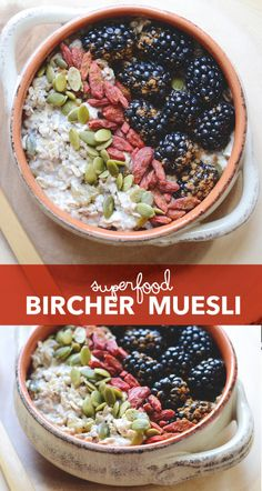 Superfood Bircher Muesli - The perfect breakfast for making ahead of time when you're always on the go. | init4thelongrun.com