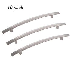Screws Included 2 B/&Q 800mm Brushed Nickel Rod Handles for Kitchen Units