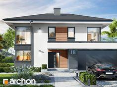 Projekt domu Willa Miranda 2 (G2) - ARCHON+ Small Modern House Plans, Beautiful House Plans, Minimal House Design, Minimal Home, Family House Plans, Dream House Plans, Dream Home Design, Home Design Plans, Storey Homes