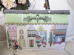 """Machine embroidery """"Main Street"""" design set you can see the whole set at http://www.stitchingart.com"""