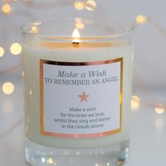 Remembrance Gifts Deepest Sympathy Message  por MakeAWishCandleCo
