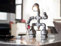 Pinning this so I will remember this idea. Love this little guy, um lamp! Check out their other lamps @http://www.kozo-lamp.com.