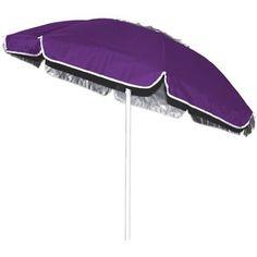 Copa 6 ft. Oxford Tilt Beach Umbrella with Vent Purple