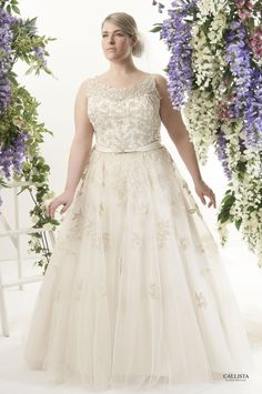 53c881328f370 Guide To Plus Size Wedding Dress Styles for Curvy Brides