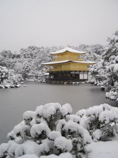 The golden temple in snow
