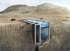 La Casa Brutale - Une luxueuse maison construite dans une falaise - Joli Joli Design