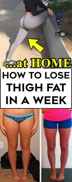 If you want to know how to lose thigh fat in a week at home, then you're reading the right guide!