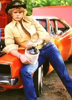 John Schneider aka Bo Duke, I had such a crush on him when I was little!  I'd hide behind the sofa every time he came on! :)