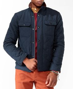 quilted jacket @ forever 21 mens