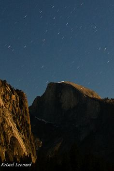 Half Dome star trails 2 by Kristal Leonard, via Flickr
