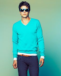 // Bershka Summer 2011 Lookbook // I like the colour of the V-neck sweater, would go well with my skin tone.