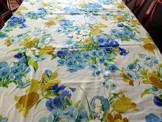 Vintage Cohama Savannah Blue & Gold Floral by Dockb30Crafts