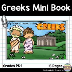 Ancient Greece Mini Book for Early Readers - Ancient Civil