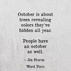 Humans have Octobers too