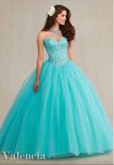 imagenes de Vestidos de 15 Años Azul Turquesa